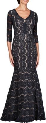 Alex Evenings Sequin Lace Mermaid Gown