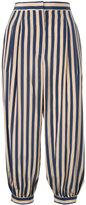 Fendi striped cropped trousers - women - Silk - 40