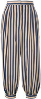Fendi striped cropped trousers