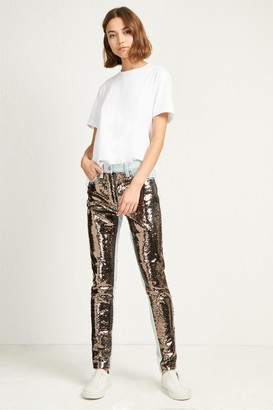 French Connection May Sequin Mix Skinny Jeans