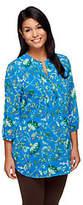Liz Claiborne New York 3/4 Sleeve Floral Print Lined Tunic