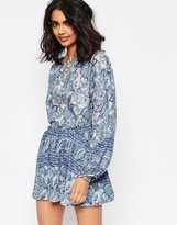 Free People Silver Sun Printed Tunic Dress