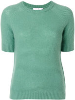 Max Mara fitted knitted T-shirt - women - Silk/Cashmere - M