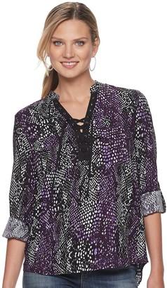 Rock & Republic Women's Lace Front Popover