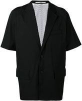 Kenzo deconstructed jacket - men - Polyester/Virgin Wool/Polyamide/Cotton - 50