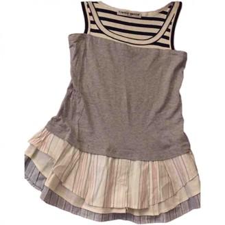 Frankie Morello Grey Cotton Top for Women