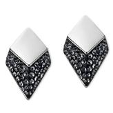 Swarovski Monceau Stud Earrings - Silver Night