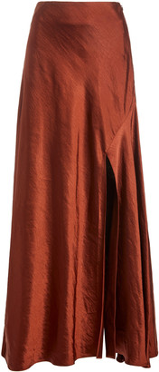 Significant Other Aura High-Rise Satin Skirt