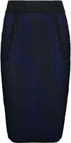Line Taylor perforated stretch-knit midi skirt