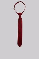 Moss Bros Wine Paisley Silk Boys Tie