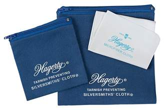 Hagerty 3 Piece Jewelry Storage Set made from Silversmith's Cloth with R-22 Tarnish Preventative