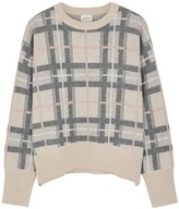 Evreux checked cashmere jumper