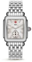 Michele Deco 16 Diamond, Mother-Of-Pearl & Stainless Steel Bracelet Watch