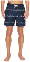 Original Penguin City Stripe Fixed Stretch Volley Men's Swimwear