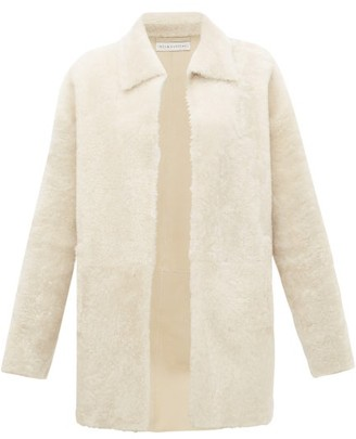Inès & Marèchal Gaspard Point-collar Shearling Jacket - White