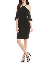 Calvin Klein Halter Chiffon Popover Dress