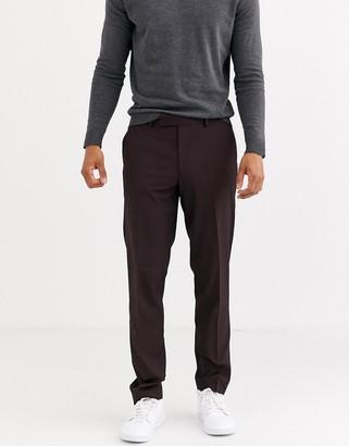 ASOS DESIGN slim smart pants in plum