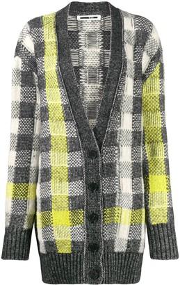 McQ checked knit cardigan