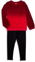 Splendid Little Girl's 2-Piece Velour Top & Pants Set