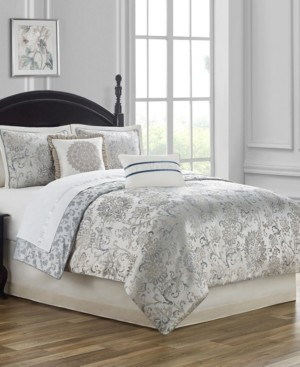 Waterford Closeout! Lynne Reversible King 4 Piece Comforter Set Bedding