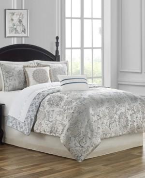 Waterford Lynne Reversible King 4 Piece Comforter Set Bedding