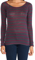 Bobi Long Sleeve Stripe Tee