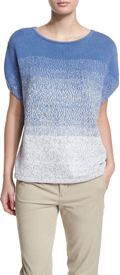 Vince Textured Ombre Cocoon Sweater