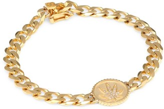 Sydney Evan 14K Yellow Gold & Diamond Mary Jane Charm Flat Link Bracelet