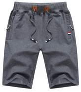 ICOOLYI Men's Casual&Sport Cotton Elastic Drawstring Shorts M16