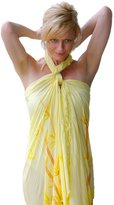 1 World Sarongs Womens Cover-Up Sarong with a Bamboo Design in