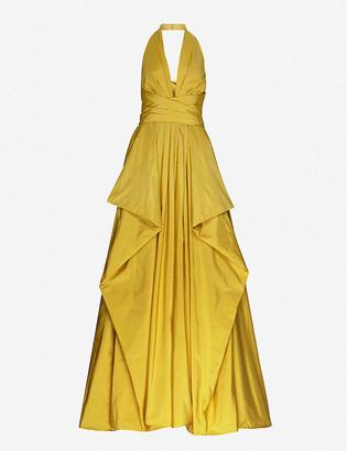 ZUHAIR MURAD Guay ruffled satin gown