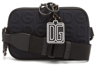 Dolce & Gabbana embossed Neoprene Cross-body Bag - Black
