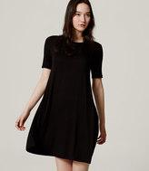 LOFT Short Sleeve Trapeze Dress