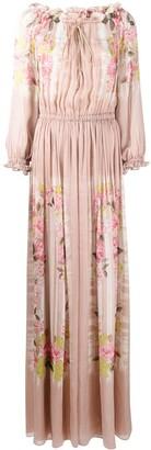 Alberta Ferretti Floral-Print Chiffon Dress