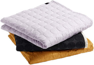 Hay HAY - Mega Dot Quilted Bed Cover - 260x260 | cotton | lavender - Lavender/Mustard yellow