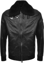 BOSS Orange Jarco 1 Leather Jacket Black