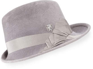 Philip Treacy Side Sweep Wool Felt Fedora Hat