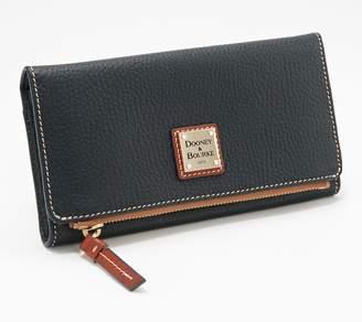 Dooney & Bourke Pebble Leather Foldover Wallet