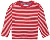 Jo-Jo JoJo Maman Bebe Breton Top (Toddler/Kid) - Red/Ecru Stripe-3-4 Years