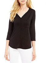 Westbound 3/4 Sleeve Seamed Top