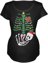 Old Glory Christmas Tree Baby Skeleton Doll Maternity Soft T-Shirt - 2X-Large