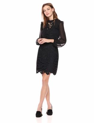 Kensie Women's Cutout Lace Front Dress