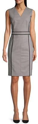 HUGO BOSS Doretti Piped Wool-Blend Dress