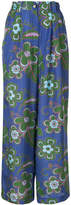 Michel Klein floral print wide-leg trousers