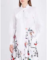 Erdem Pussybow cotton-poplin shirt
