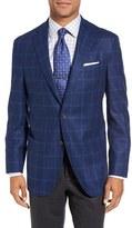 David Donahue Men's 'Aiden' Classic Fit Windowpane Wool Sport Coat