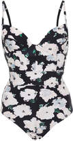 Proenza Schouler Underwired Floral One-Piece Swimsuit
