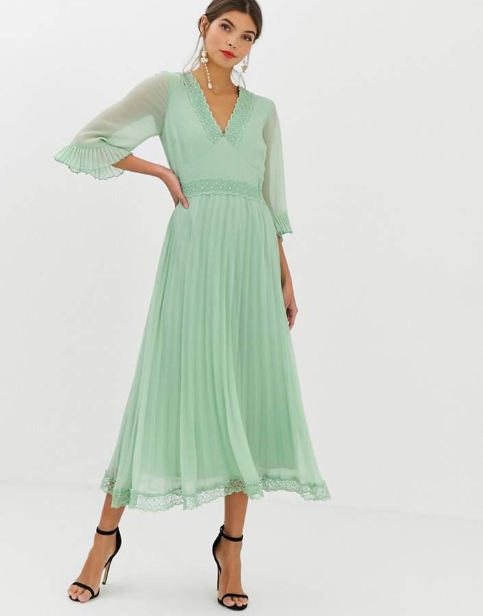 4787031cc0 Green Pleated Dress - ShopStyle UK
