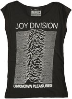 Impact Joy Division Rock Band Music Group Unknown Pleasures Juniors Cut T-Shirt Tee