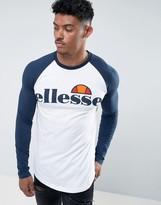 Ellesse Muscle Fit Long Sleeve T-Shirt With Large Logo